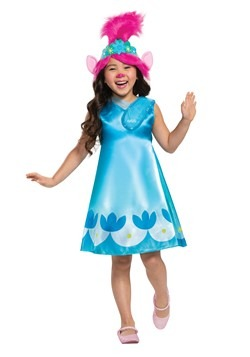 Trolls World Tour Girl's Classic Poppy Costume