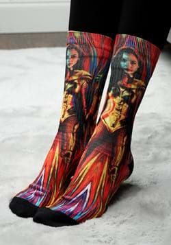 WONDER WOMAN 84 GOLD SUIT SOCK