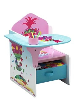 Trolls Poppy Chair Desk with Storage Bin