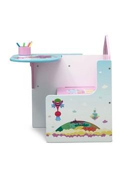 Trolls Poppy Chair Desk with Storage Bin Alt 1
