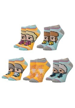 Golden Girls 5 Pair Ankle Socks