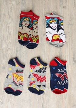 Wonder Woman 5 Pair Ankle Pack