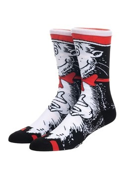 Dr. Seuss Cat in the Hat 360 Character Crew Sock