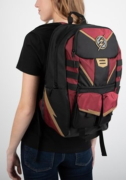 The Flash Black and Maroon Backpack Alt 1
