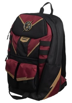 The Flash Black and Maroon Backpack Alt 2