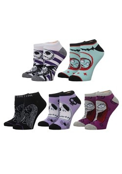 Nightmare Before Christmas 5 Pair Ankle Pack