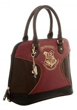 Harry Potter Gold Hogwarts Crest Print Jrs. Dome Handbag Alt
