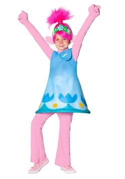 Trolls Girls Poppy Premium Costume