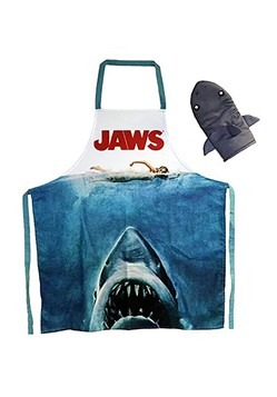 Jaws Apron and Oven Mit