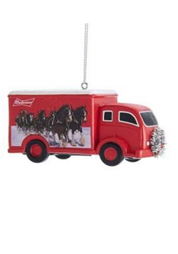Budweiser Clydesdale Truck Ornament