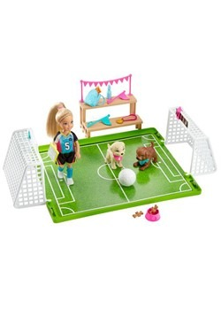 Barbie Chelsea Soccer N Pups Playset