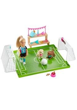 Barbie Chelsea Soccer N Pups Playset