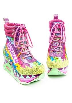 Irregular Choice 8-Bit Platform Green/Pink Sneaker
