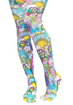 Irregular Choice Care Bears Pink/Multi Colored Tights