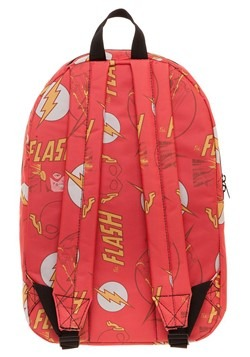 The Flash All-Over Comic Book Print Backpack Alt 1