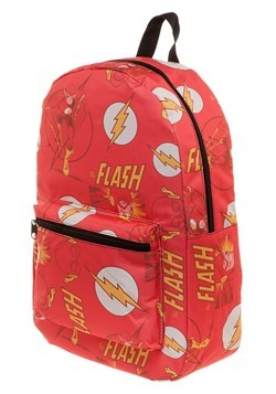 The Flash All-Over Comic Book Print Backpack Alt 2
