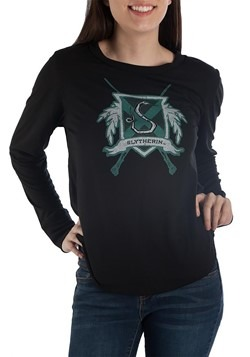 Harry Potter Slytherin Womens Long Sleeve Tee