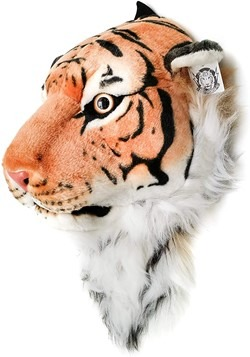 Orange Bengal Tiger Animal Head Backpack and Wall  Alt 2