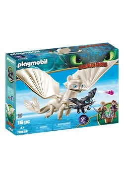 Playmobil How to Train Your Dragon Light Fury with Baby Drag