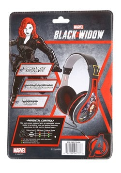 Black Widow Youth Headphones Alt 1