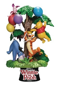 DISNEY DS-053 WINNIE THE POOH W/FRIENDS D-STAGE 6IN STATUE