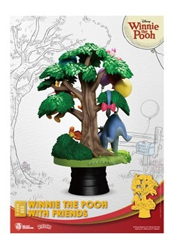 DISNEY DS-053 WINNIE THE POOH W/FRIENDS D-STAGE 6IN STATUE A