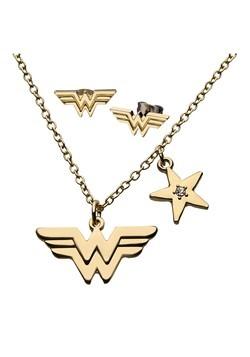 DC Comics Wonder Woman Logo Earring Necklace Set Alt 1