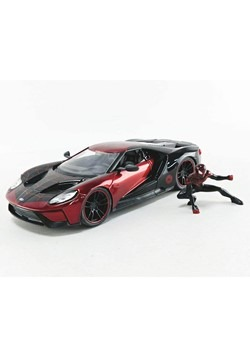 2017 Ford GT w/ Spider Man Miles Morales 1:24 Scal