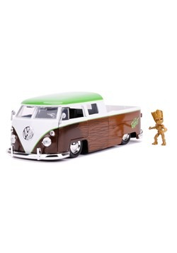 Guardians of the Galaxy 1962 Volkswagen Bus w/ Groot 1:24 Sc