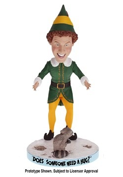 Buddy The Elf Bobblehead with Racoon