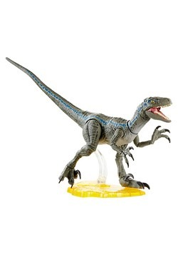 Jurassic World Amber Collection Velociraptor Blue Action Fig