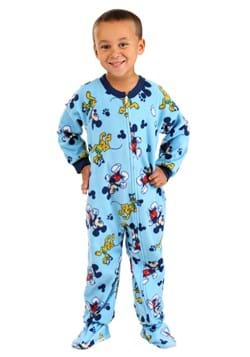 Toddler Blue Mickey and Pluto Allover Print Onesie