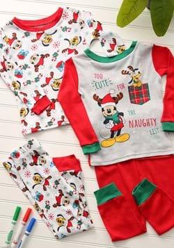 Toddler Holiday Mickey 4 Piece Sleepwear Set