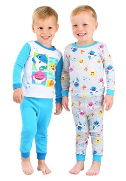 Toddler Baby Shark 4 Piece Sleepwear Set