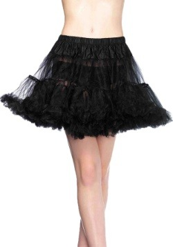 Women's Black Layered Tulle Petticoat