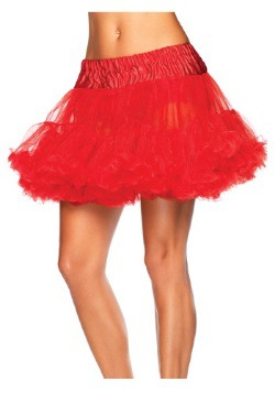 Women's Red Tulle Plus Size Petticoat