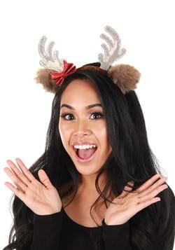 Glitter Red Bow Reindeer Headband