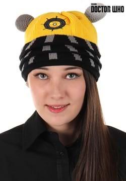 Dalek Yellow Knitted Winter Hat