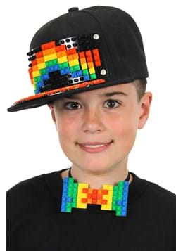 Bricky Blocks Black Snapback Hat