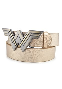 WONDER WOMAN LOGO GOLDEN ENAMEL CAST BUCKLE