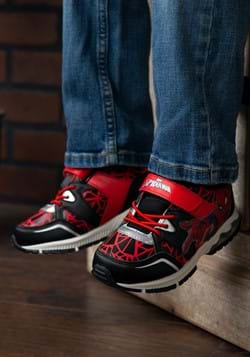 Spider-Man Lighted Athletic Kids Black & Red Shoe