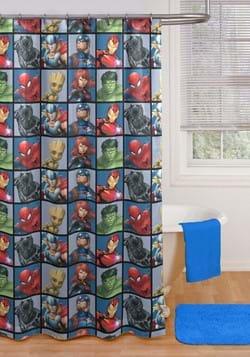 Avengers Team Shower Curtain & Hook Set