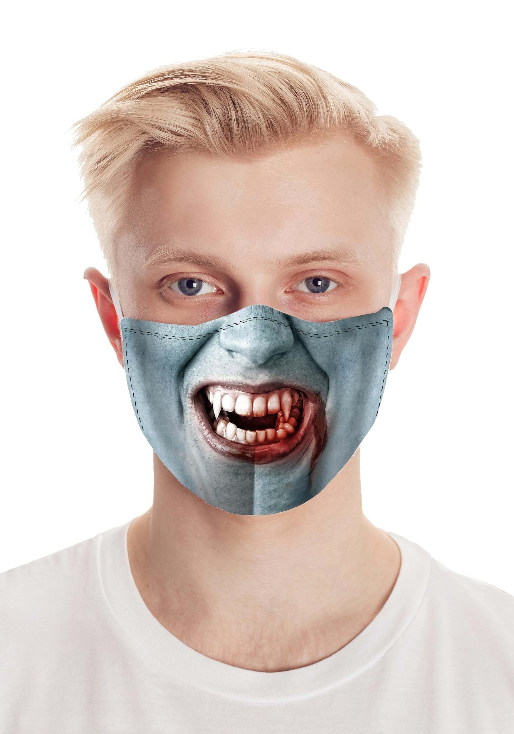 Fang Face Vampire Face mask