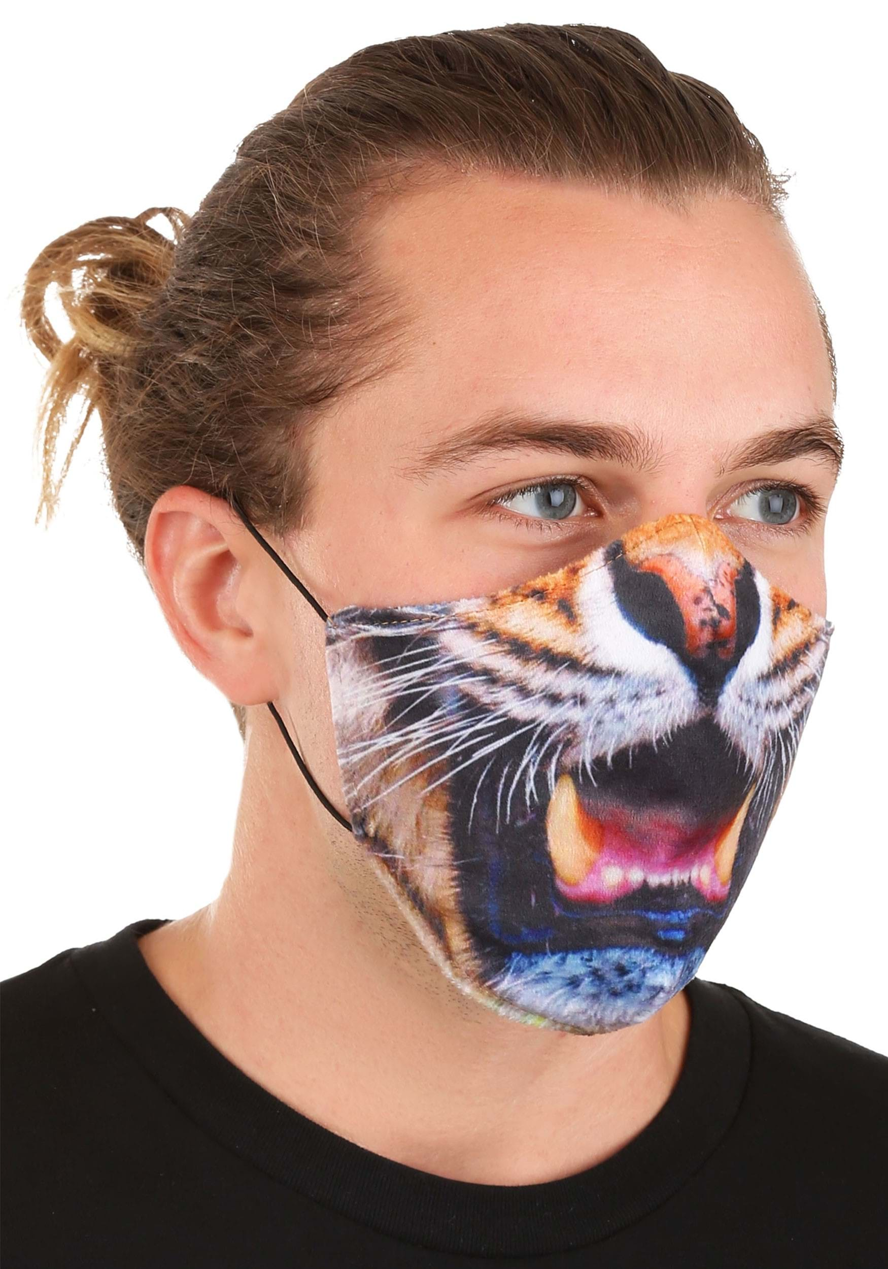 Sublimated Tiger Face Mask for Adults