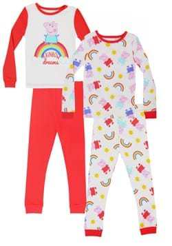 Toddler Girls Peppa Pig 4pc Pajama Set