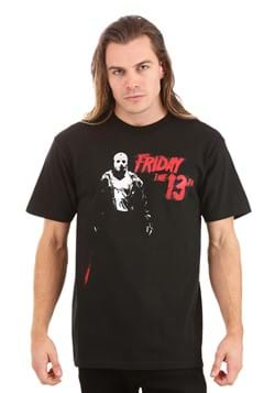 Jason Vorhees Friday the 13th Adult Black T-Shirt