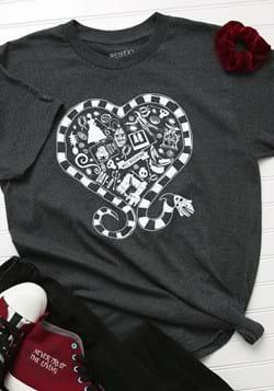 Adult Beetlejuice Sandworm Heart T-Shirt