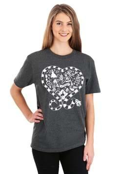 Adult Beetlejuice Sandworm Heart T-Shirt Alt 1