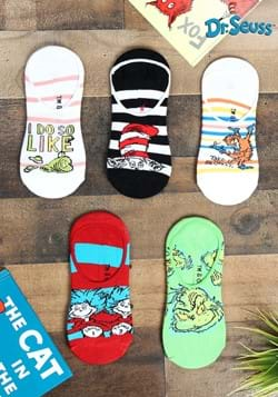 Adult Dr Seuss No Show 5 Pairs Sock Set