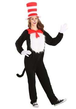Adult Plus Size Cat in the Hat Costume Alt 7